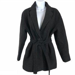 J. Crew Camille Short Wrap Coat Italian Boiled Woo